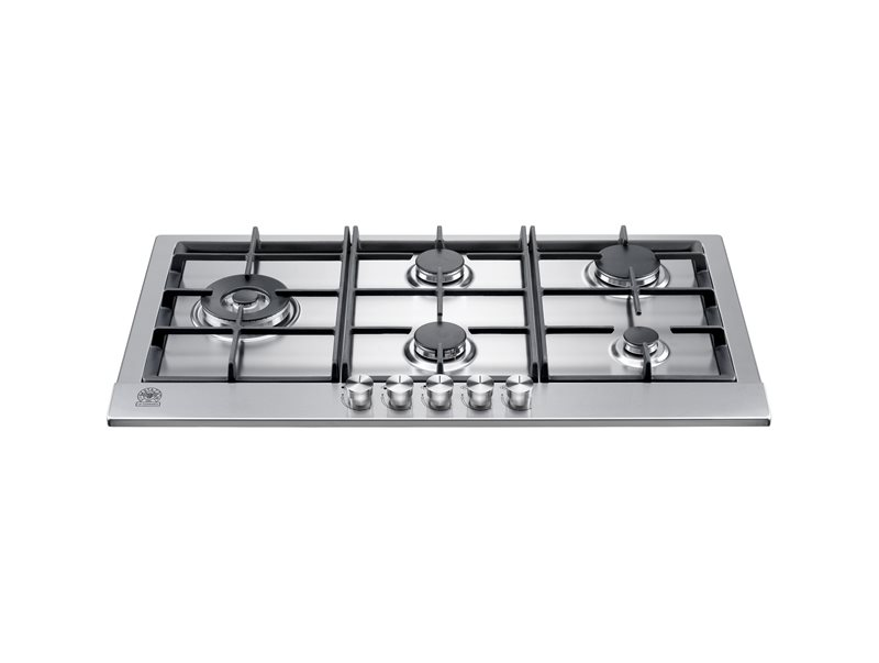 90 5-Burners Squared Pan Support | Bertazzoni La Germania - Stainless