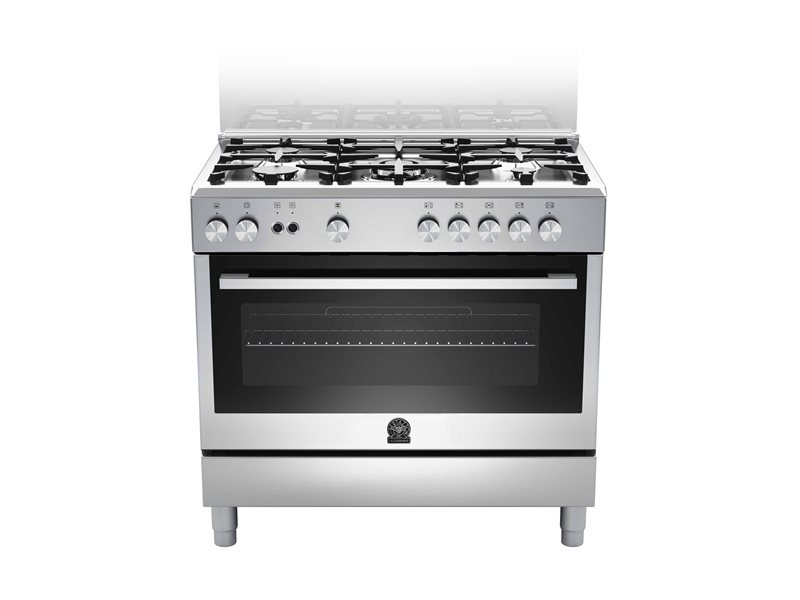 90 5-burners, Gas Oven Gas Grill CX | Bertazzoni La Germania - Stainless