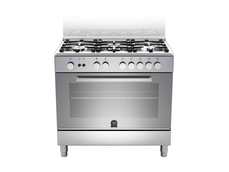 90 5-burners, Gas oven Gas grill DX | Bertazzoni La Germania - Stainless