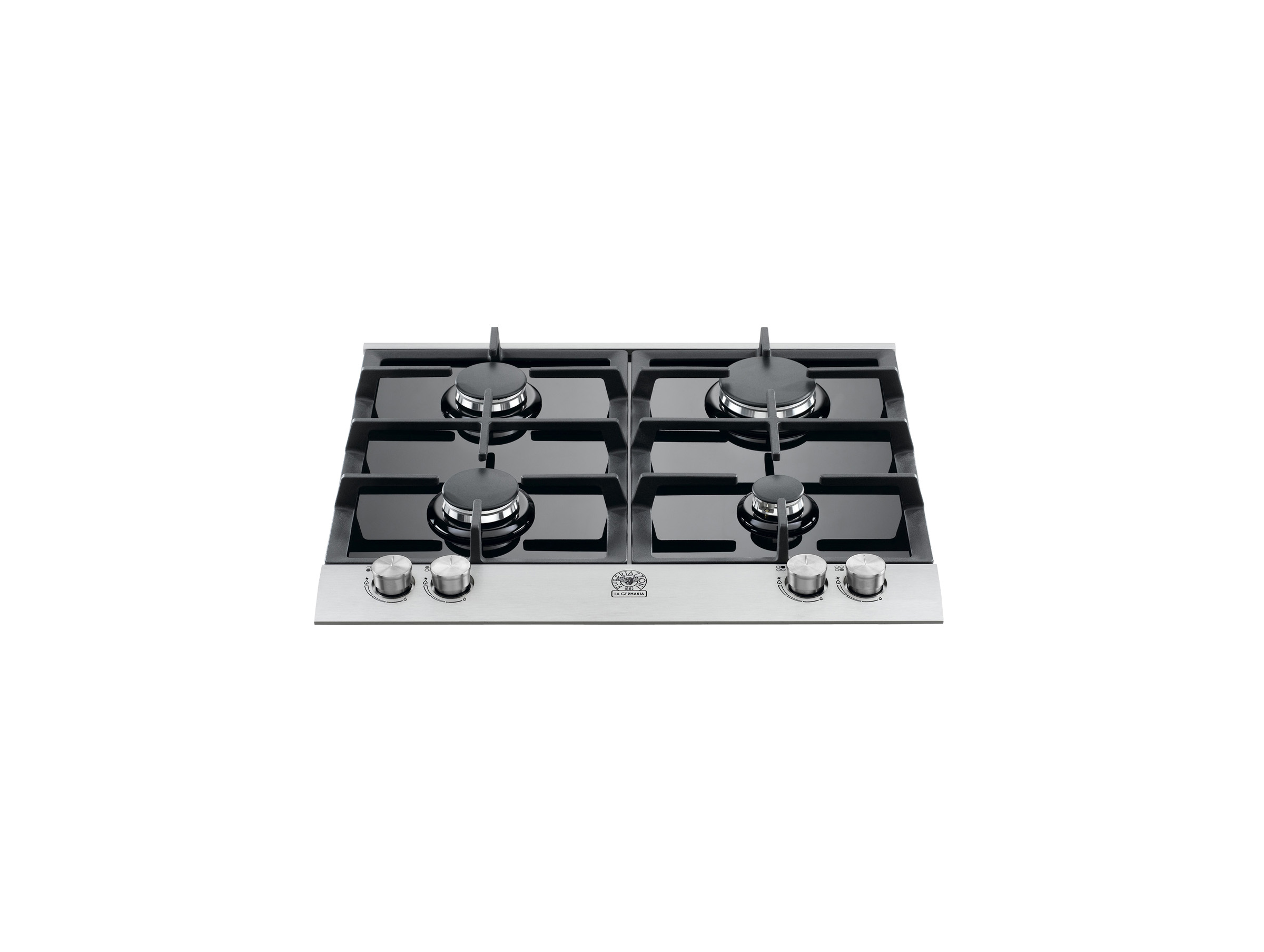 60 4-Burner Black Glass Hob | Bertazzoni La Germania - Black