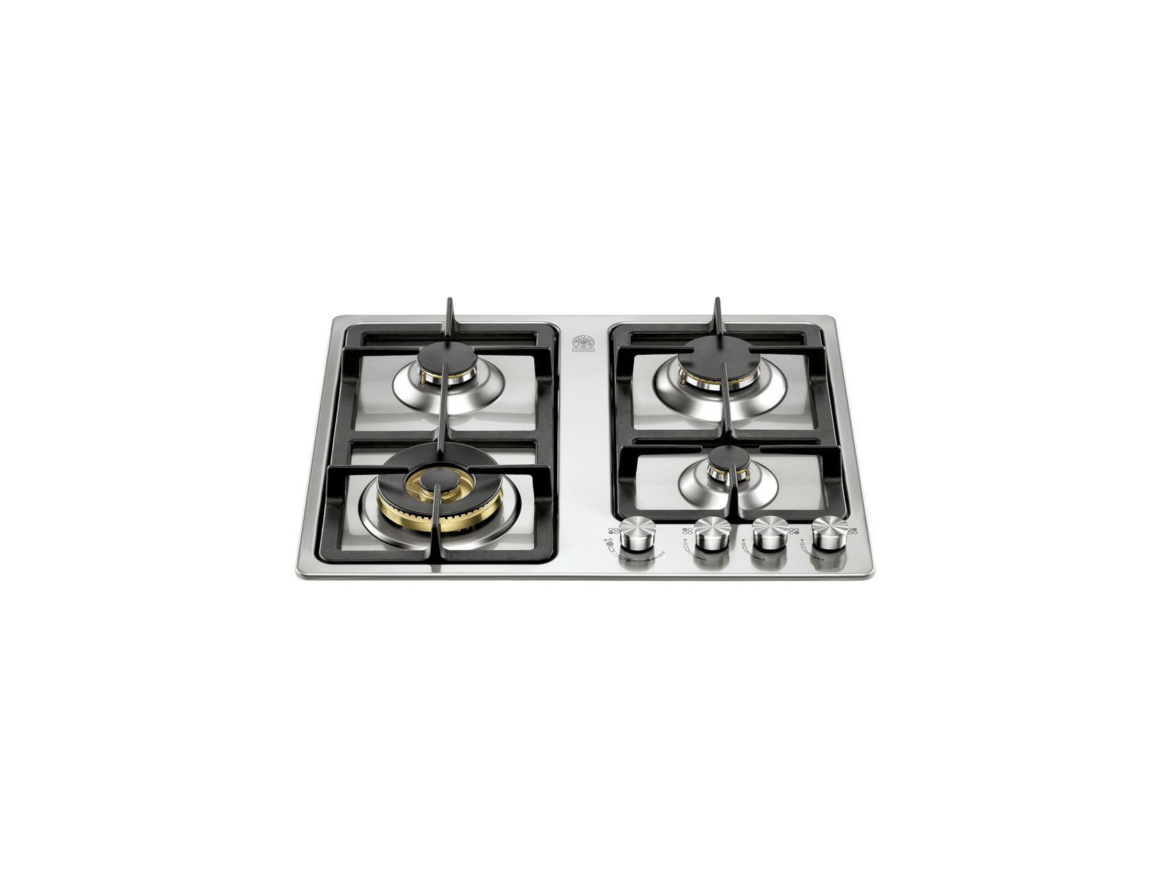 60 4-Brass Burners Front Control | Bertazzoni La Germania - Stainless
