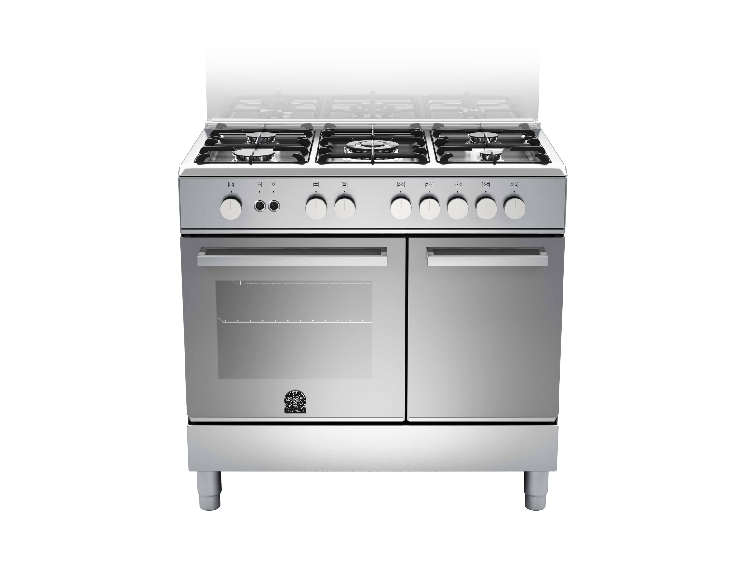 90 5-burners, Gas Oven Gas Grill, Storage Comp. | Bertazzoni La Germania - Stainless